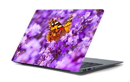 Naklejka na laptopa - Motyl w kwiatach 4691