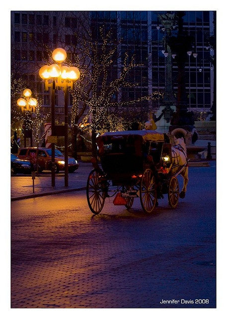 Horse Carriage Rides , Downtown Indianapolis by J Davis via flickr
