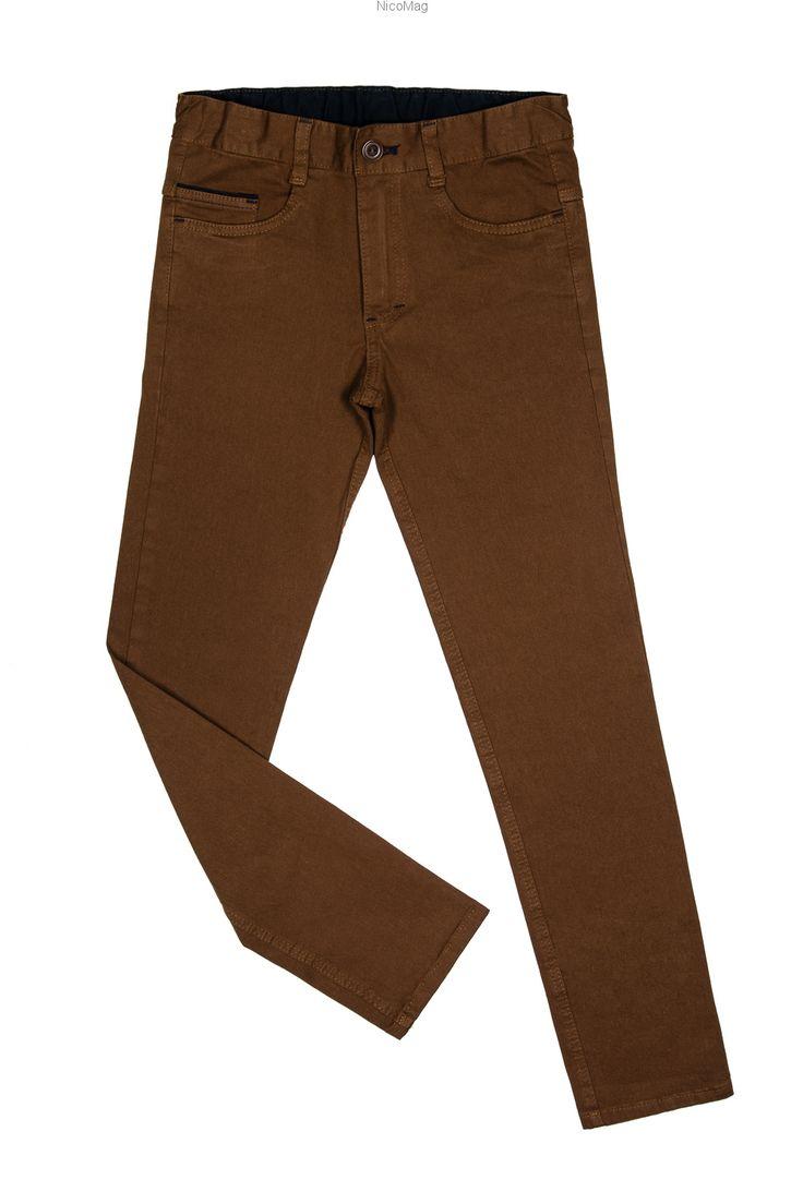 Spodnie bawełna, HEMELOS cappuccino-chłopiec
