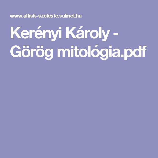 Kerényi Károly - Görög mitológia.pdf