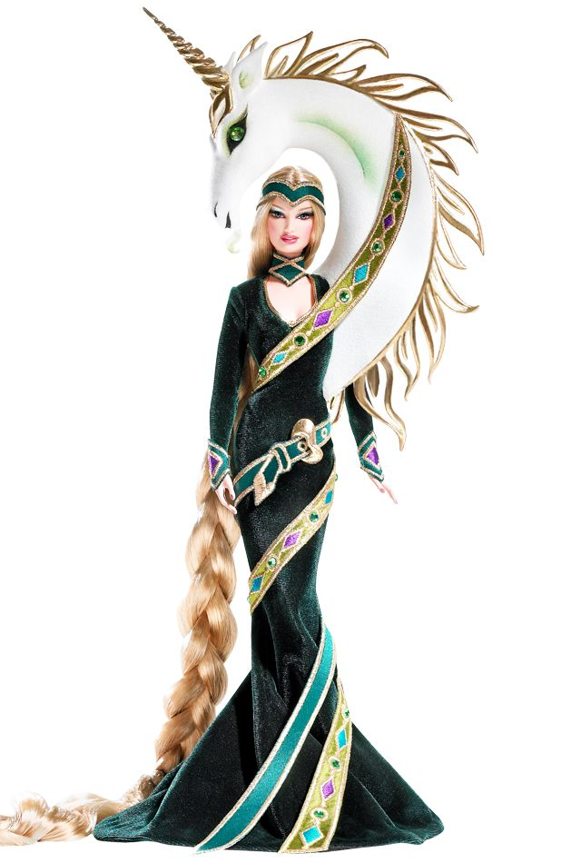 Lady of the Unicorns™ Barbie® Doll by Bob Mackie. another barbie I want? I blame all my childhood dreaming of a barbie with floor-length hair. xD;