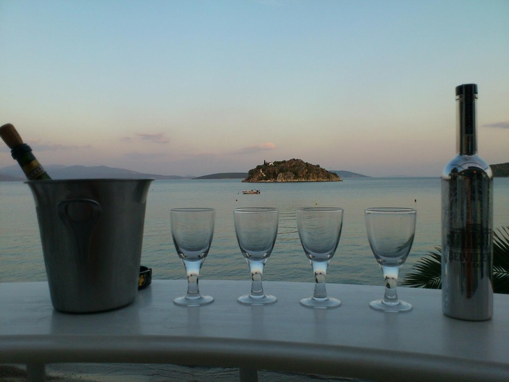 A beautiful evening at Nelly's Hotel Tolo
