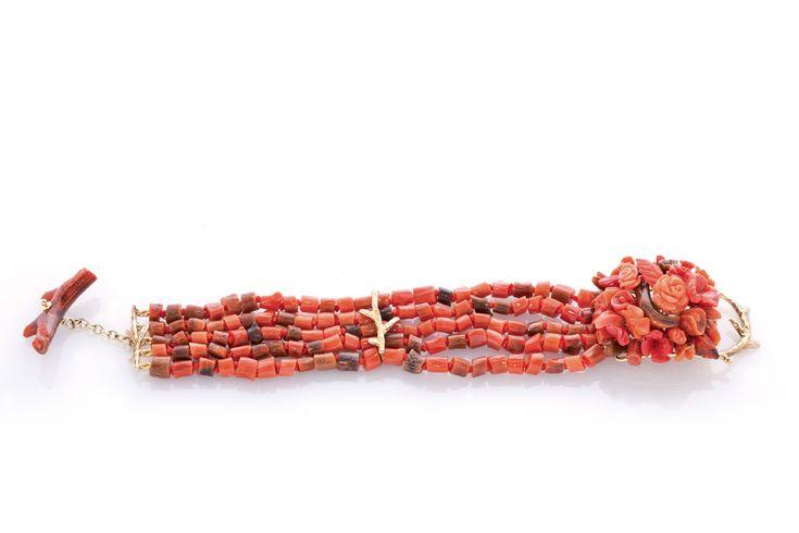 Collezione Fossile, Creazioni Oro di Sciacca, gioielli in corallo