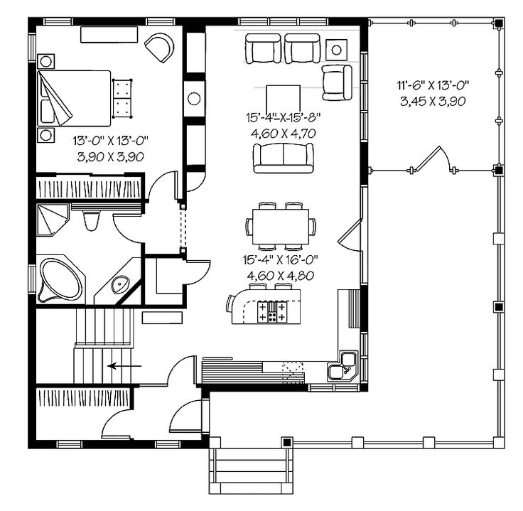 1000+ Ideas About One Bedroom House Plans On Pinterest