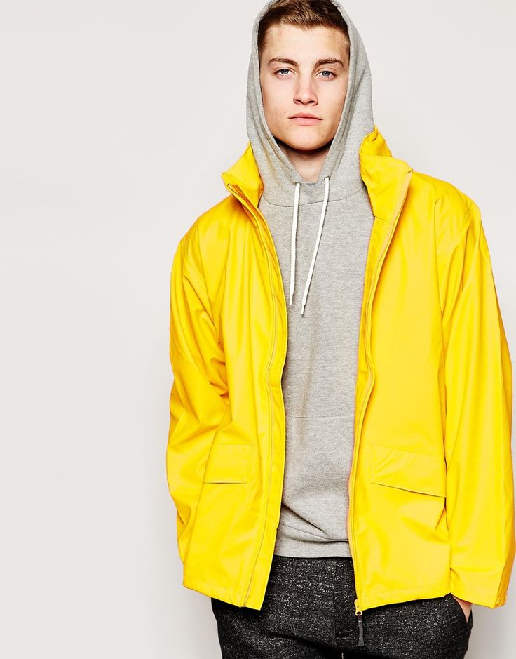 """Jacket by Helly Hansen Wind resistant and waterproof Lightweight, super smooth fabric Stand collar Foldaway hood Zip opening Slanted side pockets Press stud cuffs Regular fit - true to size Machine wash 100% Polyurethane Our model wears a size Medium and is 185.5cm/6'1"""" tall"""