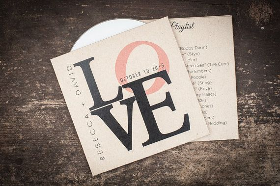 Kraft CD sleeve, Custom, Kraft Paper, DVD sleeve, wedding favour, wedding gift, wedding Cd case, Wedding CD