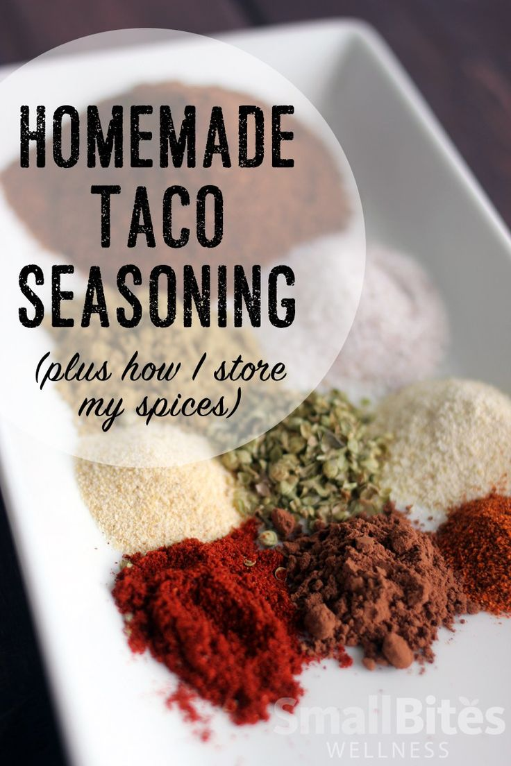 This rich, flavorful homemade taco seasoning is free of sugars, stabilizers, preservatives, and MSG. Perfect for tacos, burritos, nachos... anything!