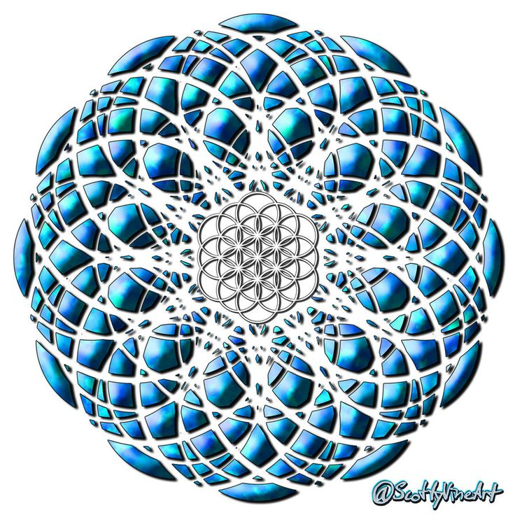 Separation: Yet Still One - FOL 33  ⚫ ScottyVineArt.DeviantArt.com⚫ #FlowerOfLife #DigitalArt #Mandala #GeometricArt #SacredGeometry