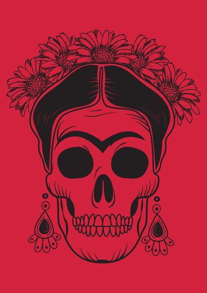 Poster Frida Caveira
