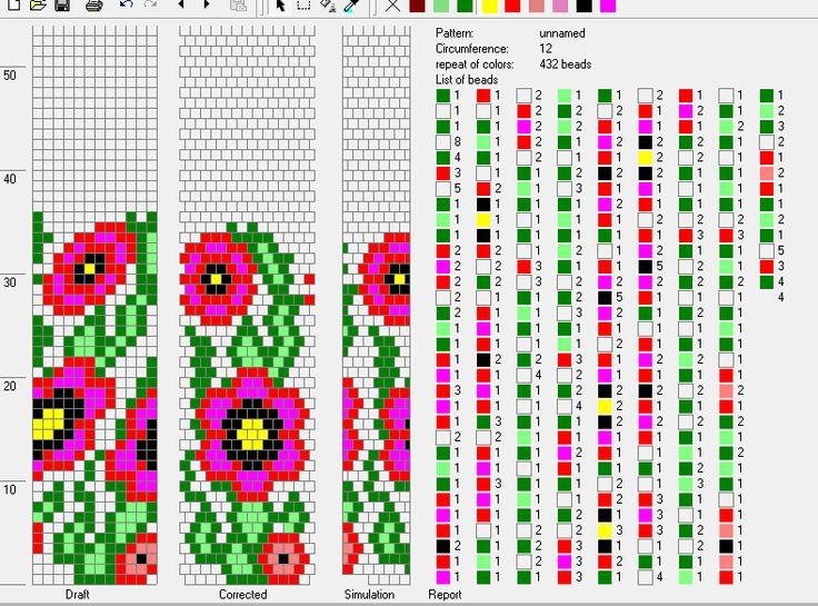 na 12 koralików http://twoje-kolczyki.blogspot.com/2014/05/makowiec.html