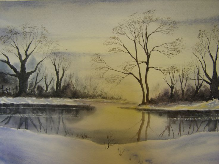 Frozen Lake by Colin Walters 594mm x 420mm