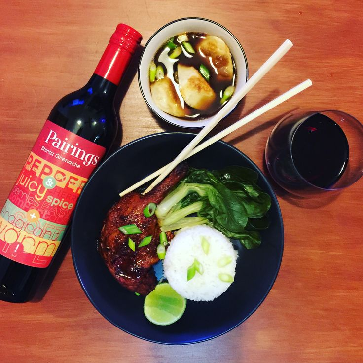 PALATE PAIRINGS Need a dinner idea for tonight? Chinese dumplings + duck are a superb match for our Shiraz Grenache! The flavour combo is 👌 Free shipping through  Dan Murphy's.