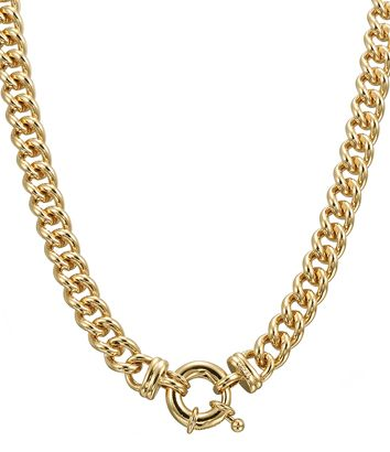 Glamour Gold Euro Clasp Necklace - NG0045 - $499 AUD