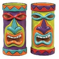 tiki heads - could make with toilet roll tubes and papier mache