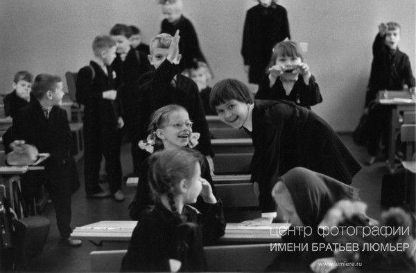 Мой первый 1 ''А'' Автор: Шерстенников Лев, год съемки: 1965, печать: черно-белая бромсеребряная, тираж: 30, примечание: подпись автора на обороте фотографии