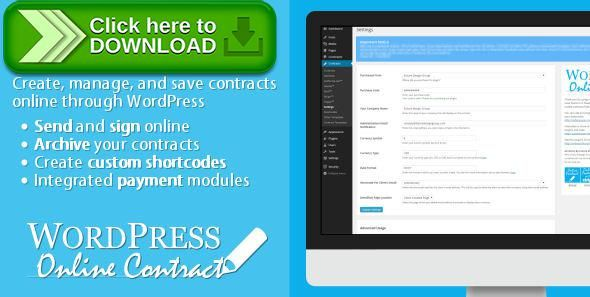 [ThemeForest]Free nulled download WP Online Contract from http://zippyfile.download/f.php?id=58954 Tags: ecommerce, client, contract, create, edit, mobile, online, plugin, responsive, sign, sign online, signature, upload, wordpress