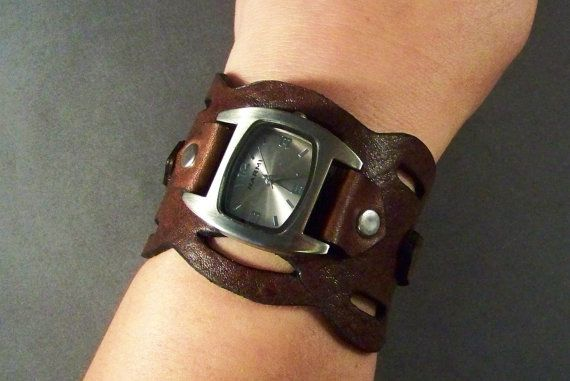 Hey, I found this really awesome Etsy listing at https://www.etsy.com/listing/59639771/leather-watch-brown-leather-watch