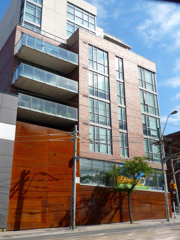 Location: 2 Gladstone Ave. Toronto, ON, M6J 0B2 Product: CorTen Steel Photographer: Ryan Brown #corten #architecture #design #facade #steel