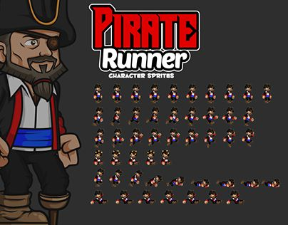 """Check out new work on my @Behance portfolio: """"Pirates Character Sprites"""" http://be.net/gallery/44608225/Pirates-Character-Sprites"""