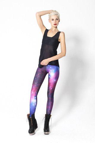 Galaxy Purple Leggings   Black Milk Clothing