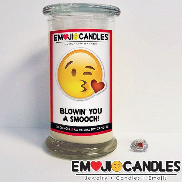 Blowin' You A Smooch! - Emoji Candles - The Official Website of Jewelry Candles - Find Jewelry In Candles!