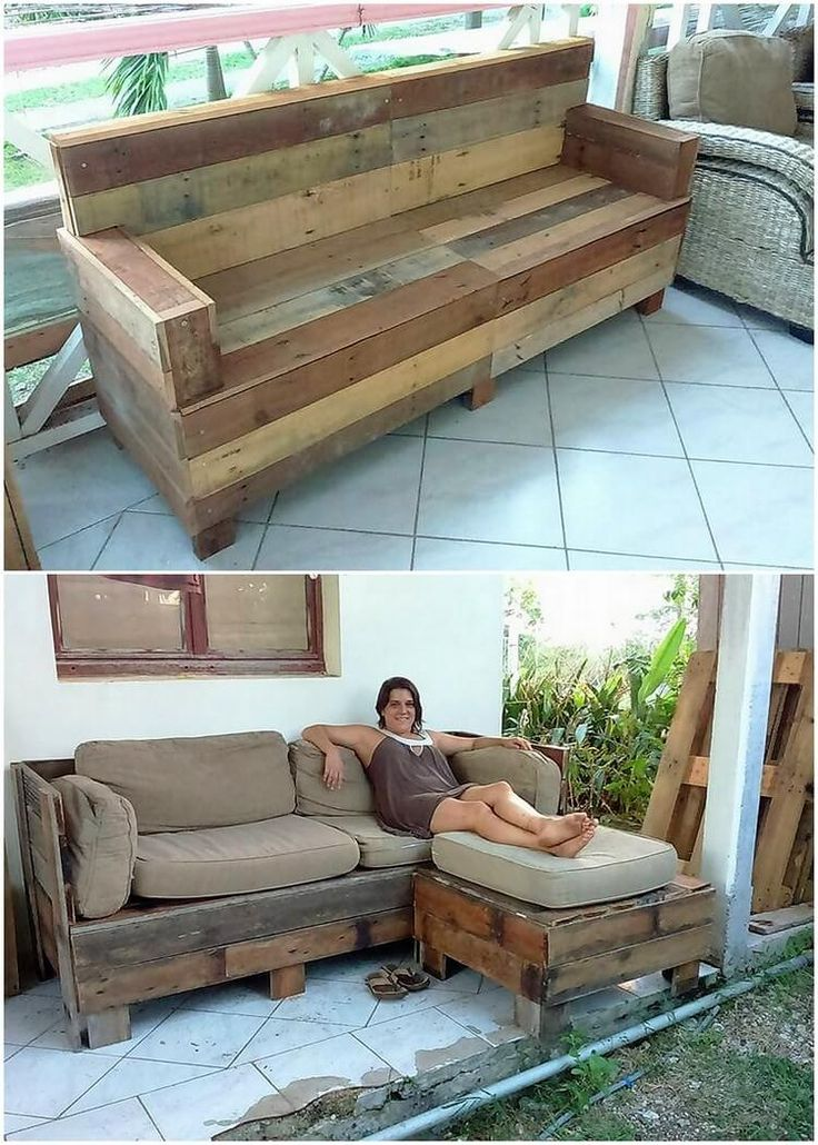 Best 25+ Wood pallet couch ideas on Pinterest | Pallet ...