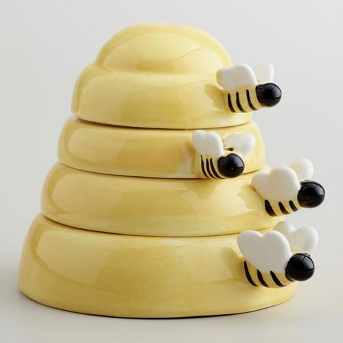 One of my favorite discoveries at WorldMarket.com: Beehive Measuring Cups   $12.99