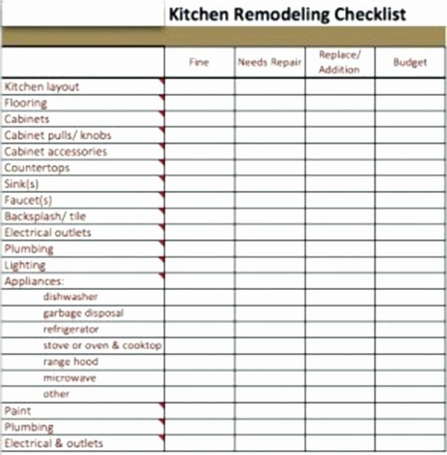 Kitchen Remodel Checklist Excel Inspirational Bathroom