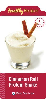 Delicious recipe for a Cinnamon Roll Protein Shake. #wls #rny #weightloss #surge