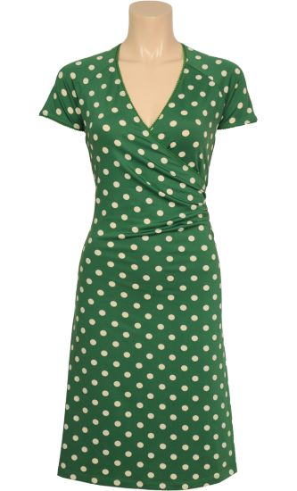 Vintage Inspired Autumn | ◦ | Cross Dress Partypolka - Green Dots | ◦ | King Louie AW14