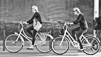 Laughing on bikes