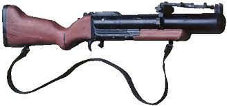 "m79 grenade launcher - when I was in service, I loved firing this baby...we called it ""thumper"".you could watch it go down range...it was so kool"