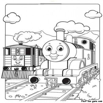 print out pictures of toby the tram engine thomas the train and friends coloring pages for - Colouring Papers