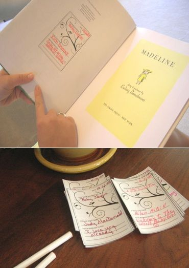 book themed baby shower. everyone brings a book and fills out the book plate for the new baby.
