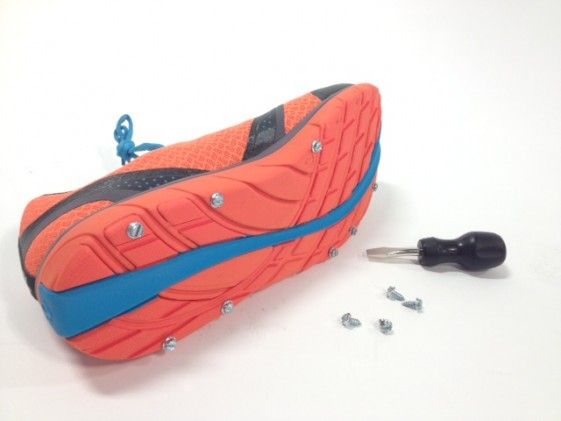 I just want these for my every day shoes!!  DIY Snow-Running Spikes - Competitor Running