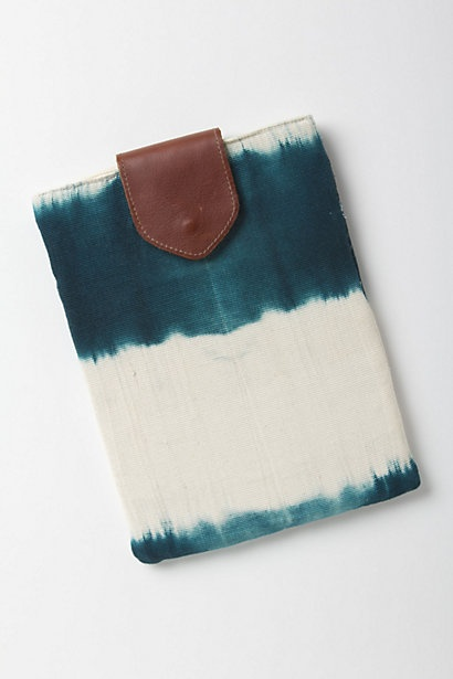 handmade in guatemala for anthropologie - this both confuses and enchants me.    mercado global dip-dye tablet case - anthropologie.com