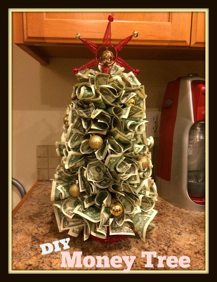DIY money Christmas tree, creative cash gift tutorial