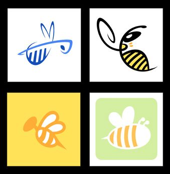 Color Bee Logos by ~yooki42 on deviantART