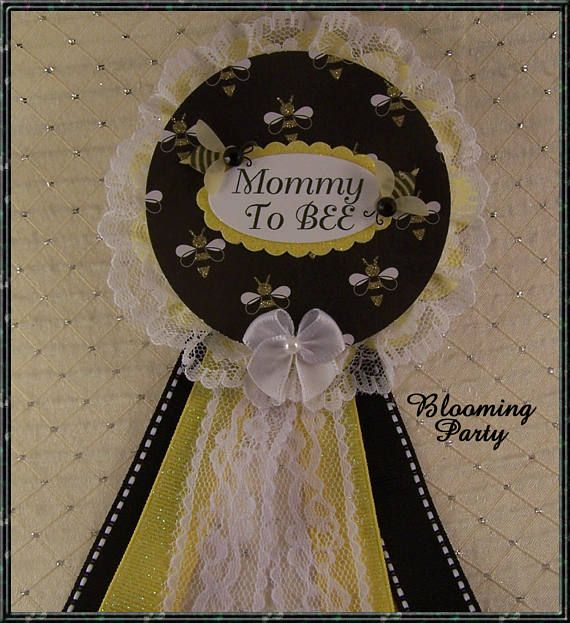 Mommy To BEE Corsage Baby Shower Corsage Bee Theme Baby Shower