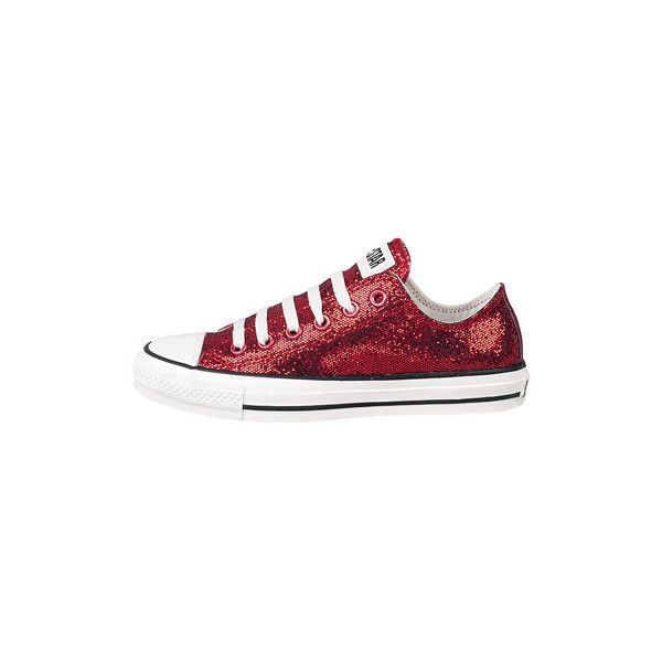 1c0058c2a371 Reception Shoes -Journeys Shoes  Converse All Star Lo Glitter - Red found on  Polyvore