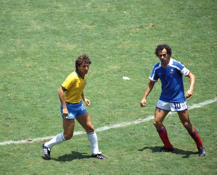 21 giugno 1986, Estadio Jalisco, Guadalajara Numeri 10 Arthur Antunes Coimbra e Michel François Platini