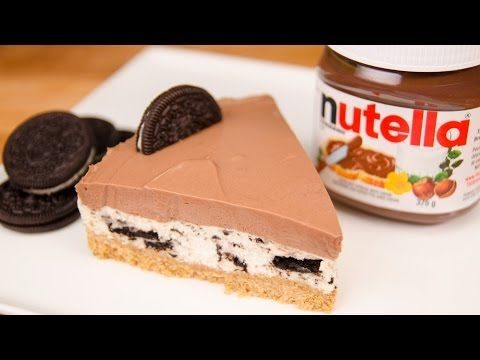 How To Make No Bake Nutella Oreo Cheesecake Cooking Panda Simple Recipes | Cooking Panda Recipes