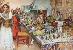 christmas :: Christmas-Evening. by Carl Larsson, Swedish Christmas
