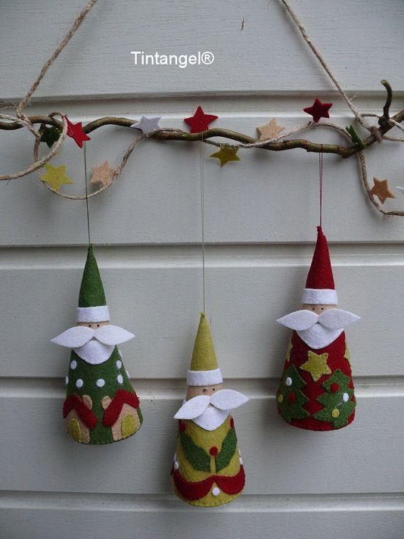 Three Jolly Santa's PDF pattern download