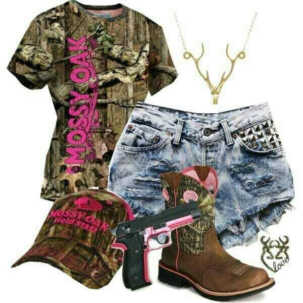 Mossy oak (love this) maybe with pants instead of shorts. Camo Cuteness