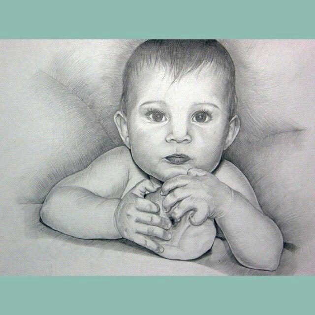 Даша, портрет, карандаш