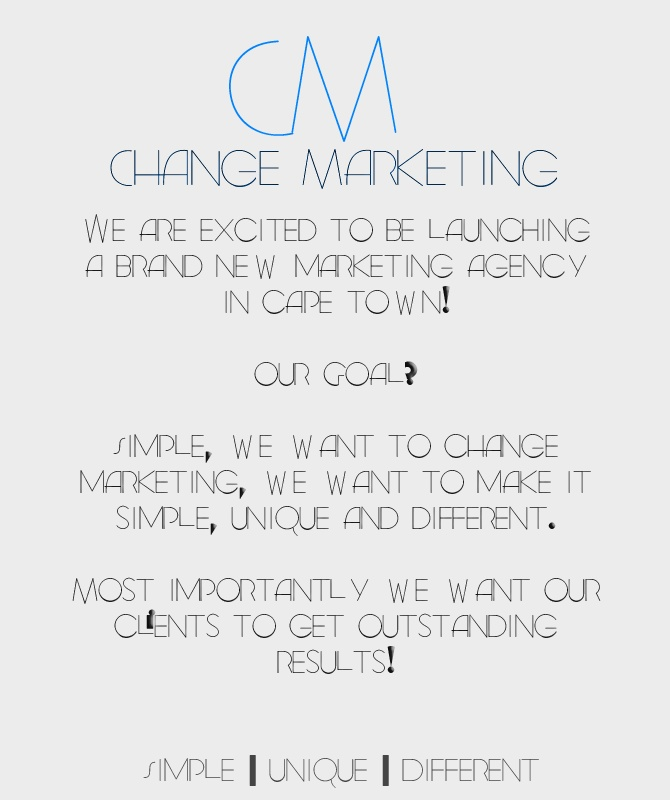 Change Marketing... Simple | Unique | Different