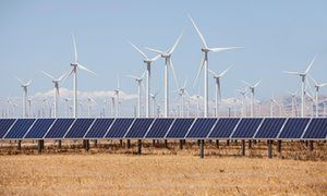 Wind turbines and solar panels have already become cost-competitive with fossil fuels.