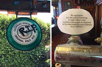 Pubs Are Taking Coopers Beer Off Tap Because The Brewery Supports The Bible Society