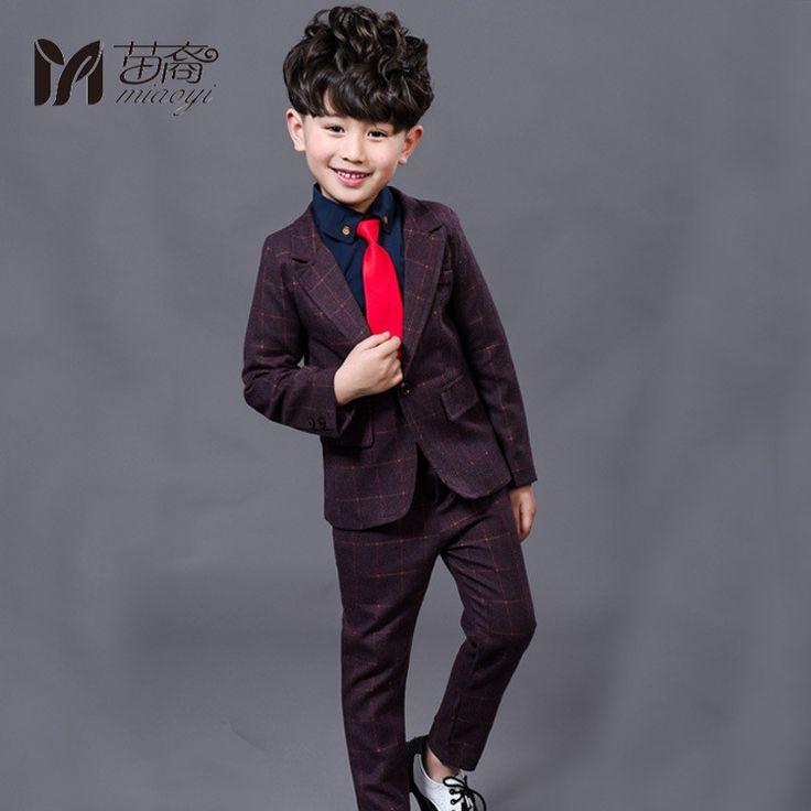 2017 New Children Suit Baby Boys Suits Kids Blazer Boys Formal Suit For Wedding Boys Clothes  Blazer Pants 2pcs 3-12Y